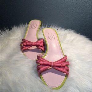 Talbots Pink Green Kitten Heels Shoes